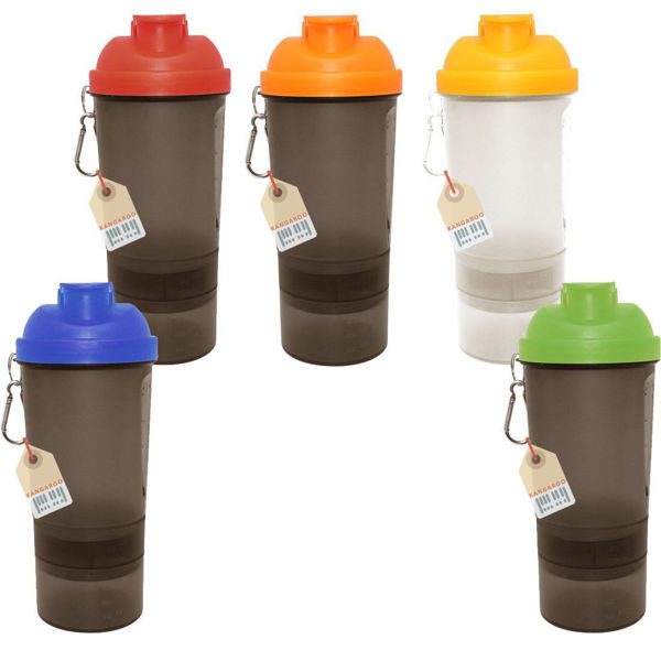 Picture of shaker bottle- tow color