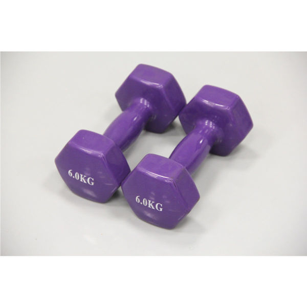 Picture of dumbbell 6kg + 6kg purpel(stock)